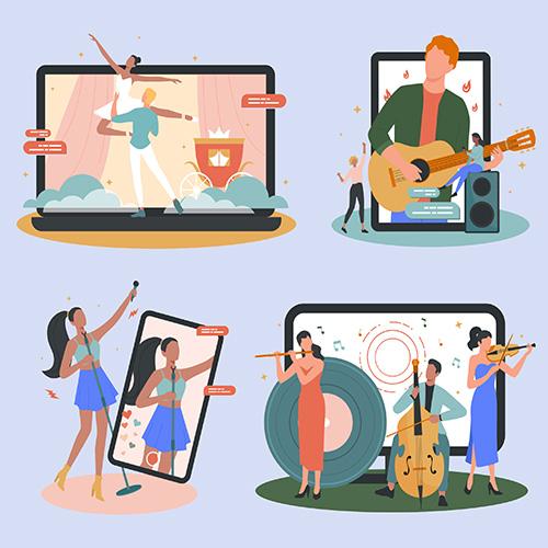 Programmbausteine für Online Events